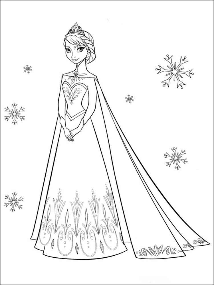 Frozen Coloring Pages Download And Print Frozen Coloring