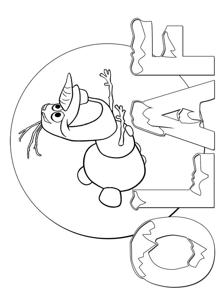 Frozen coloring pages Download