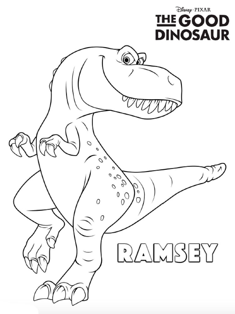 the good dinosaur coloring pages 17