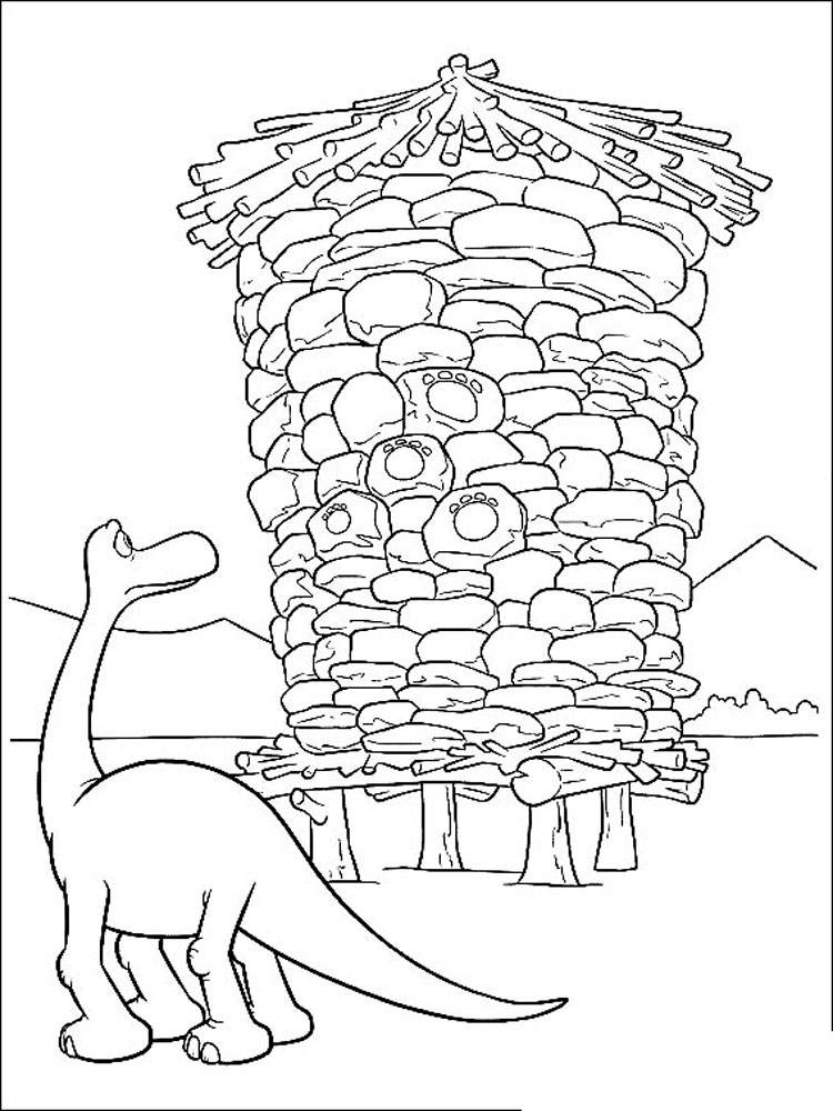 The Good Dinosaur Coloring Pages Download And Print The
