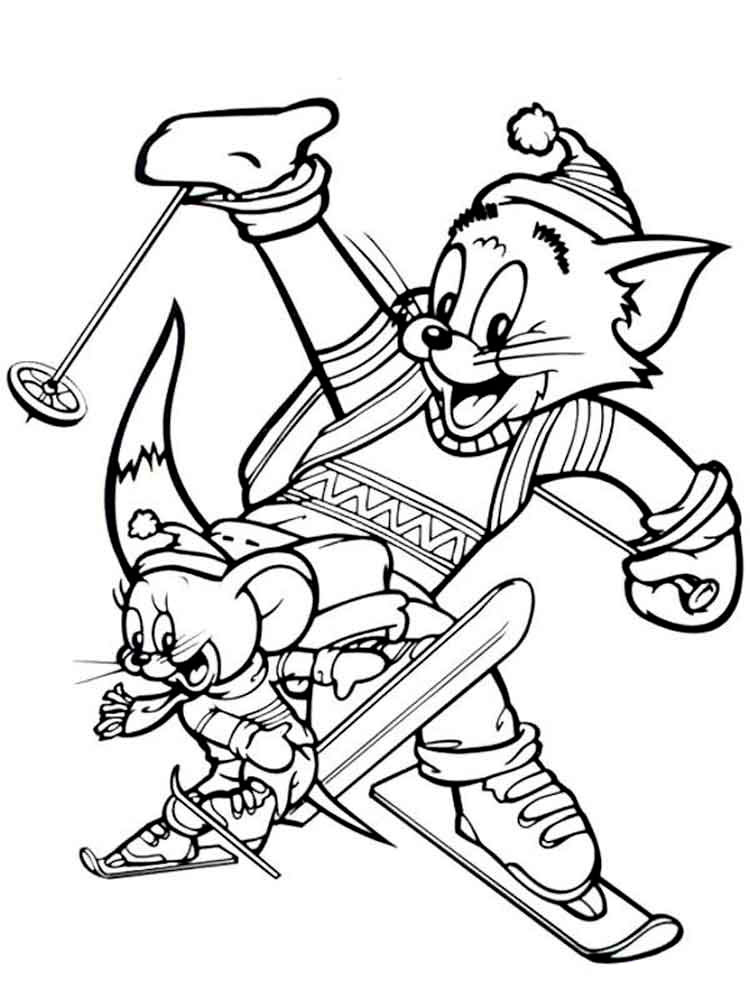 Free Printable Tom and Jerry coloring pages.