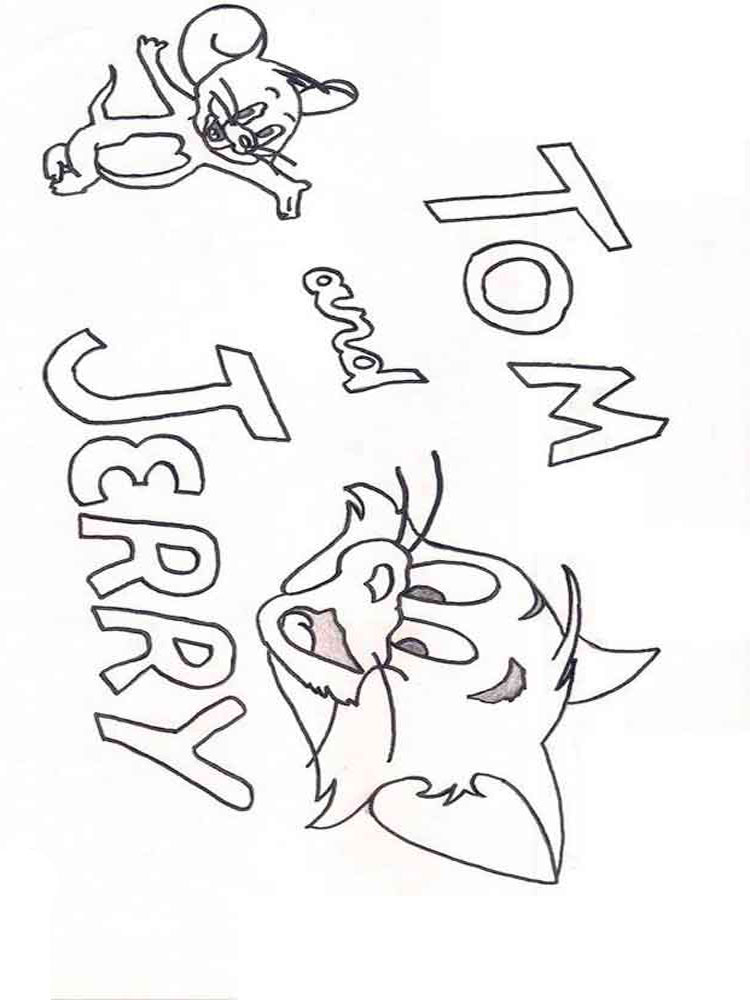 Free Printable Tom and Jerry coloring pages