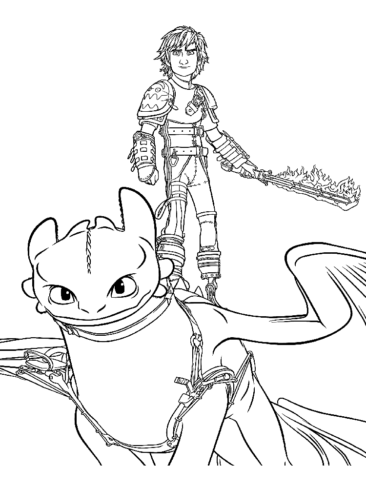Free Toothless coloring pages. Download and print ...