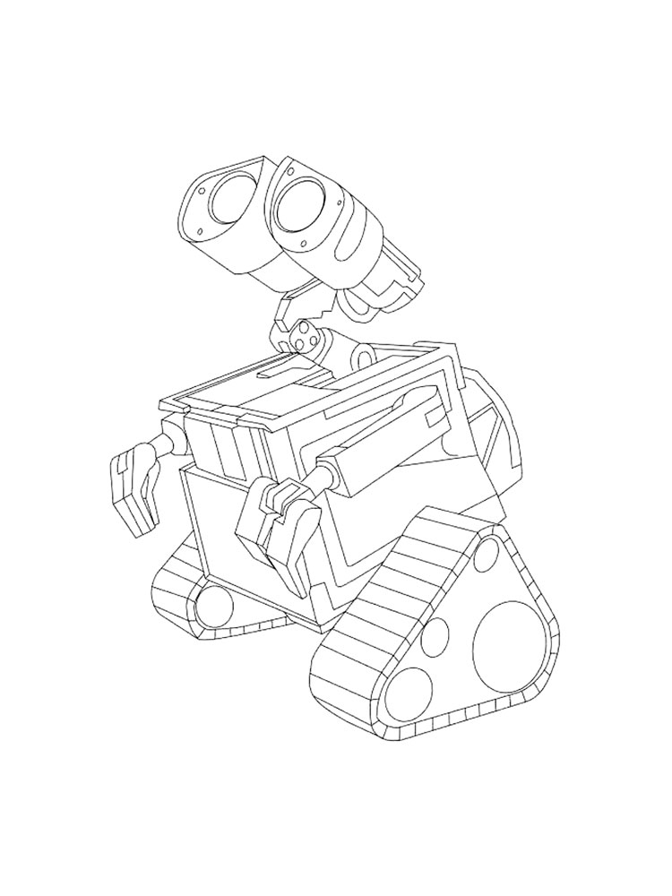 wall e coloring pages 10