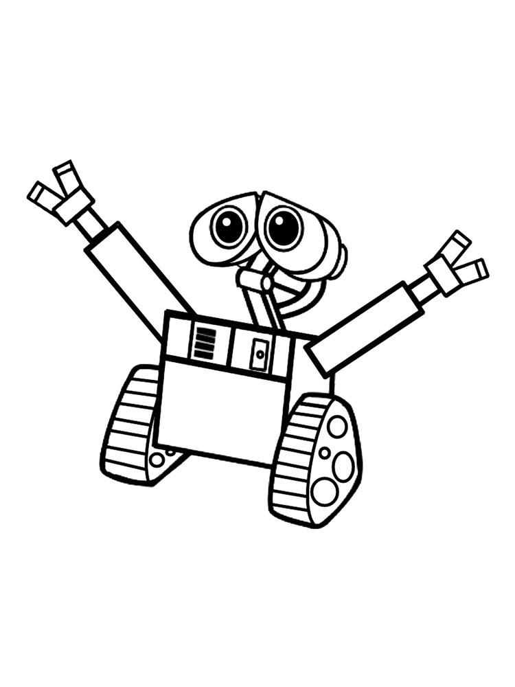 WallE coloring pages Download and print WallE coloring pages