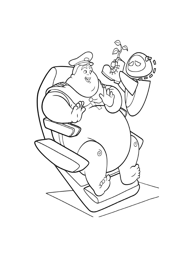 Wall-E coloring pages. Download and print Wall-E coloring pages