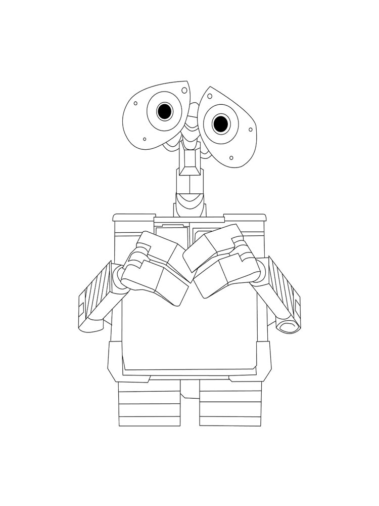 WallE coloring pages Download and print WallE coloring