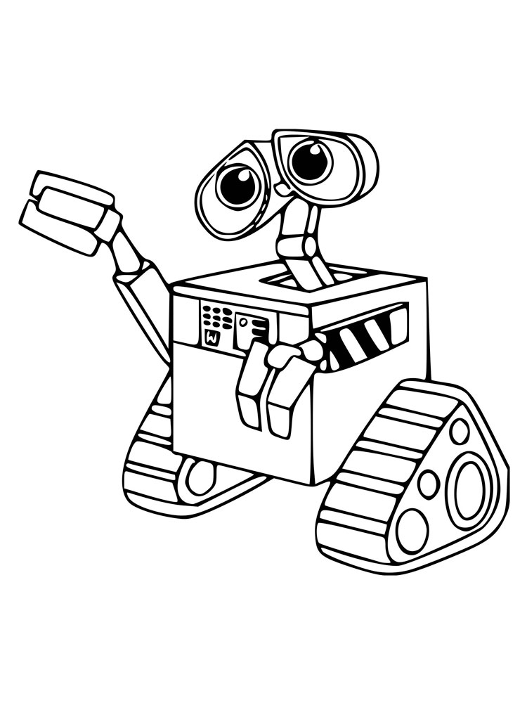 Wall E Coloring Pages Download And Print Wall E Coloring