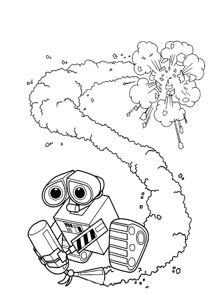 WallE coloring pages Download