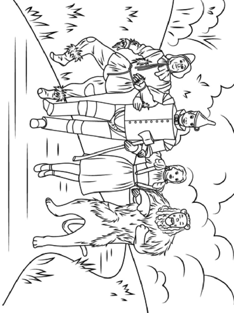 Wizard Of Oz Coloring Pages 4