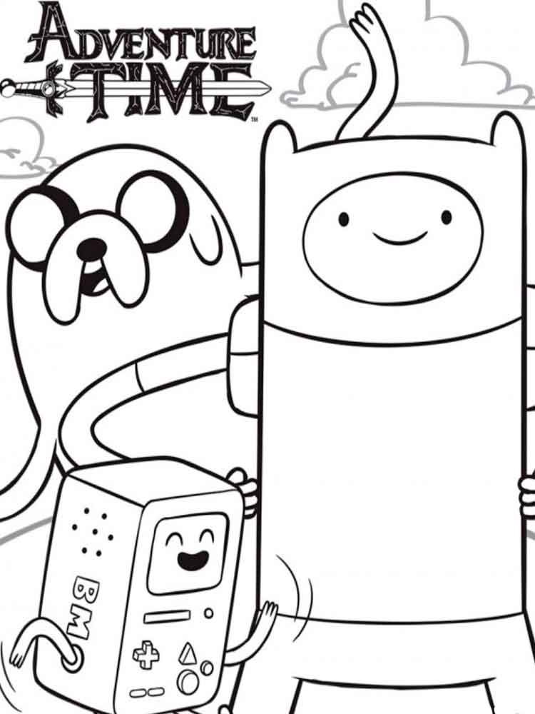 adventure time coloring pages 3 - Adventure Time Coloring Book