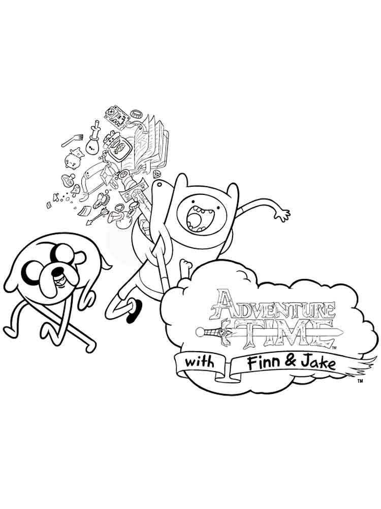 Adventure Time Coloring Pages Download And Print