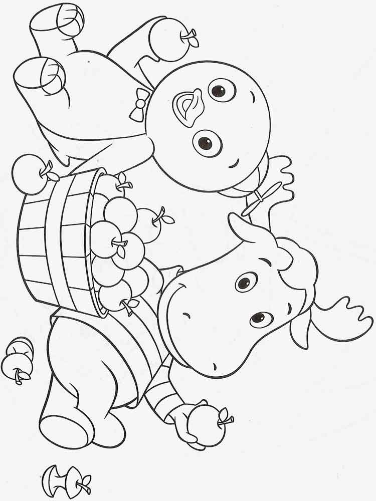 Backyardigans Coloring Pages Free Printable Backyardigans