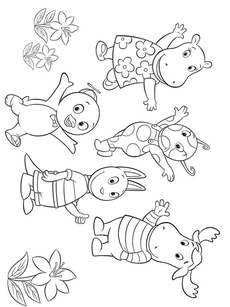 Backyardigans coloring pages Free