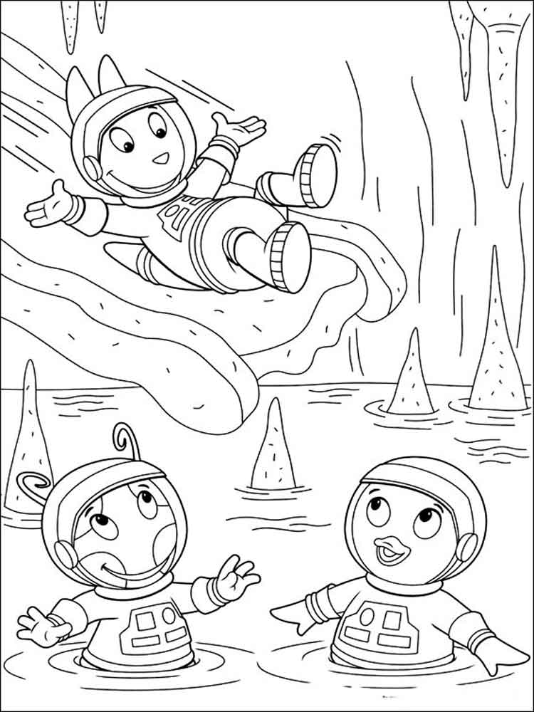 Backyardigans Coloring Pages Free Printable Backyardigans Coloring