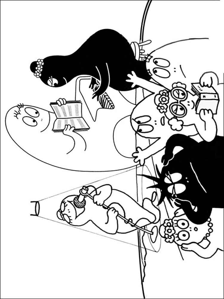 Barbapapa coloring pages Free