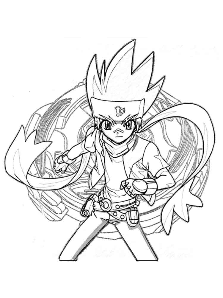 Beyblade Coloring Pages Free Printable Beyblade Coloring