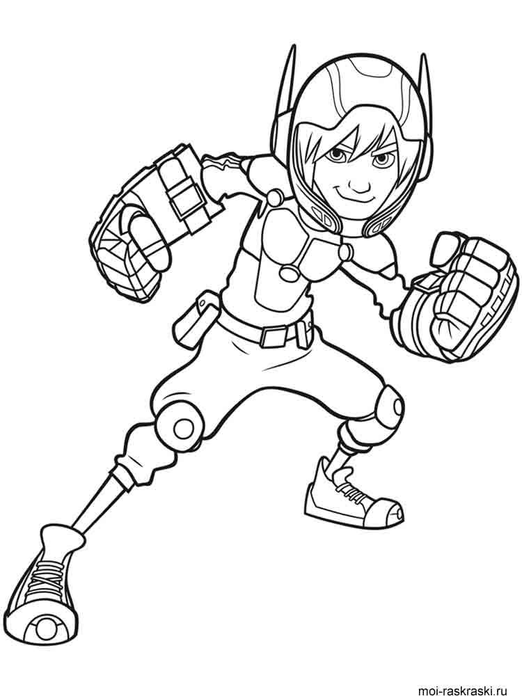 big hero 6 coloring pages for kids | Big Hero 6 coloring pages. Free Printable Big Hero 6 ...