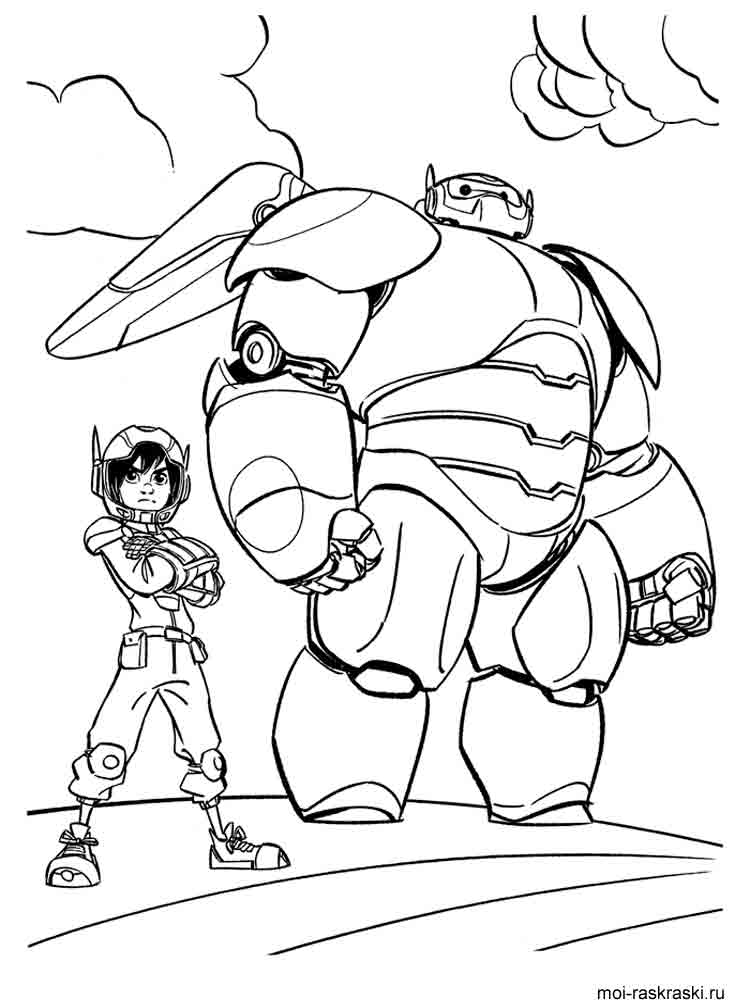 Big Hero 6 coloring pages Free