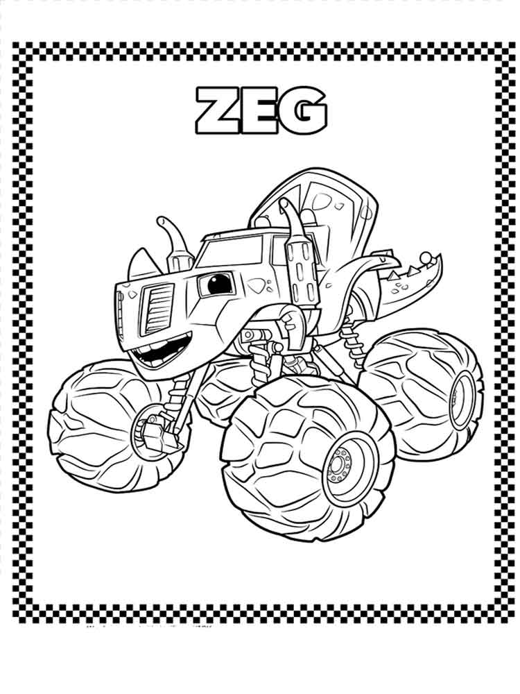 Blaze and the monster machines coloring pages free for Blaze and the monster machine coloring pages