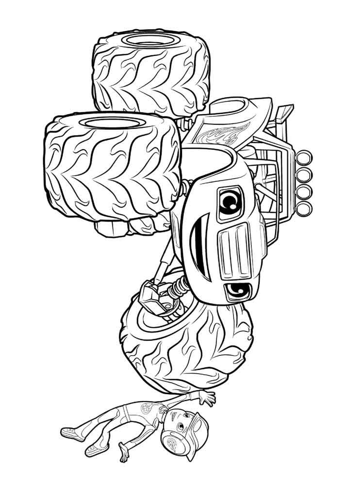 blaze and the machines coloring pages free
