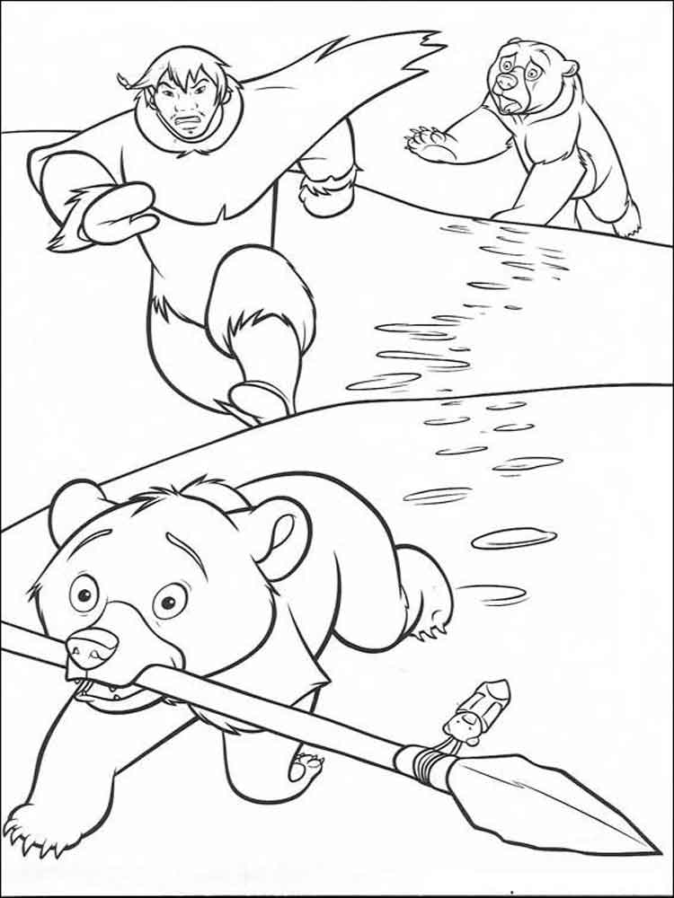Brother Bear coloring pages Free Printable Brother Bear