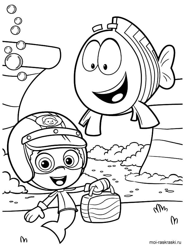 baby guppies coloring pages - photo#25