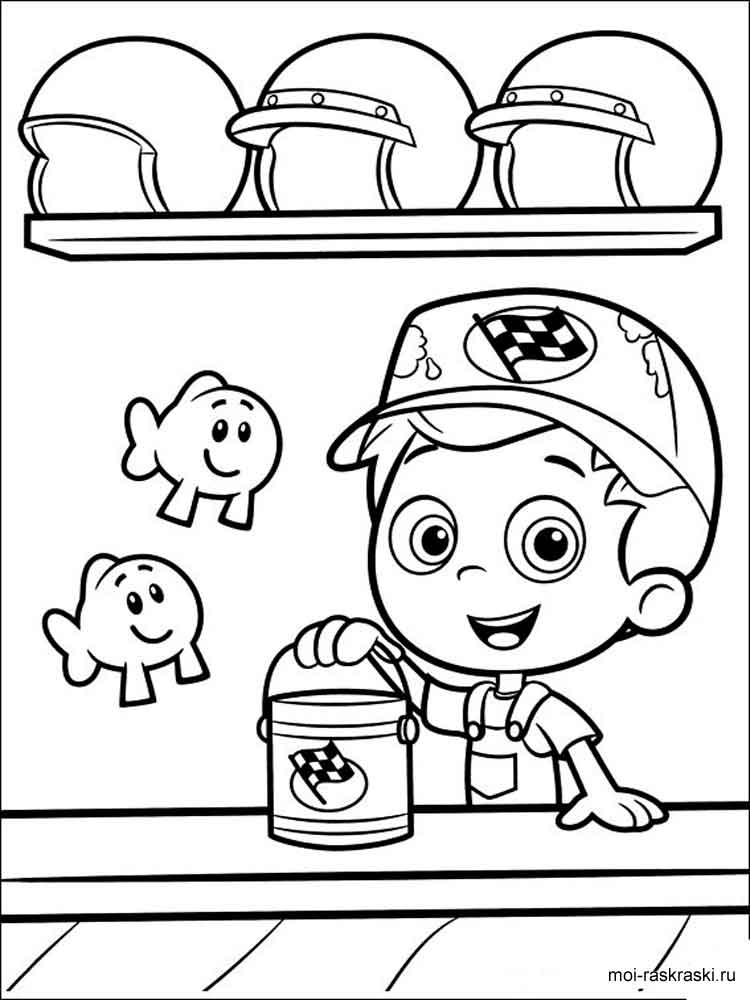 Bubble guppies coloring pages free printable bubble - Coloring bubble guppies ...