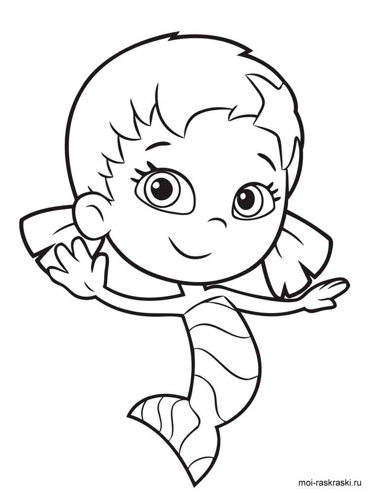 Bubble Guppies Coloring Pages Free Printable Bubble