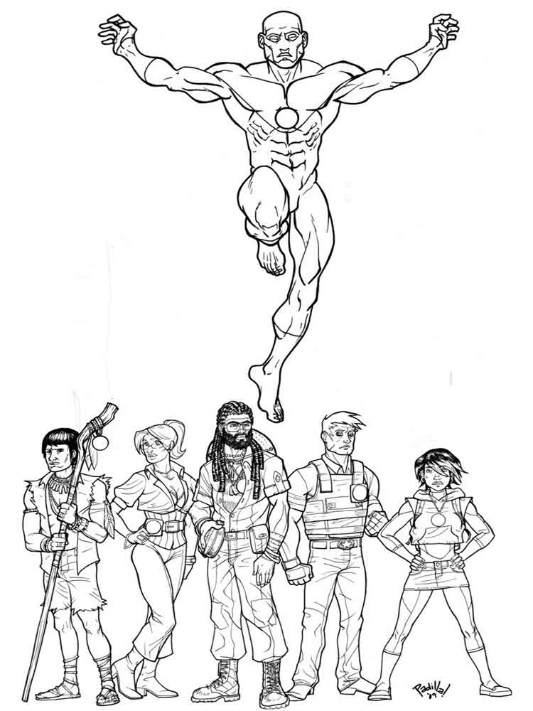 Captain Planet Coloring Pages Free Printable Captain