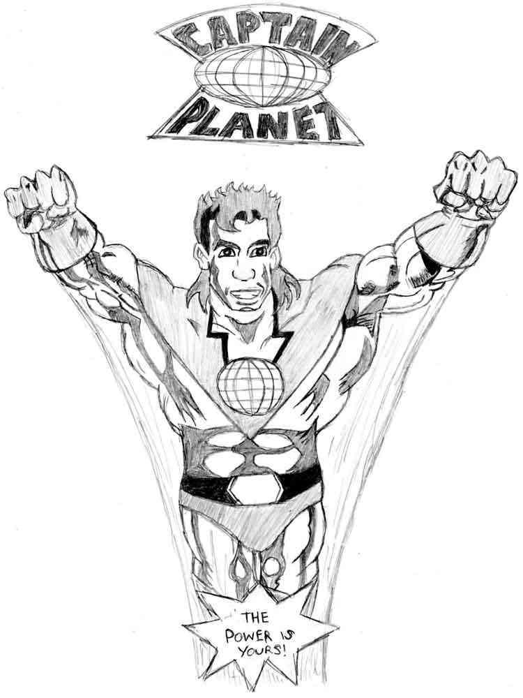 Captain Planet coloring pages. Free Printable Captain Planet ...