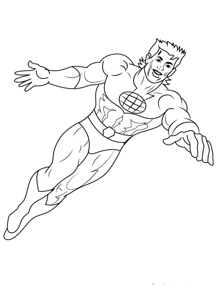 captain planet coloring pages 7