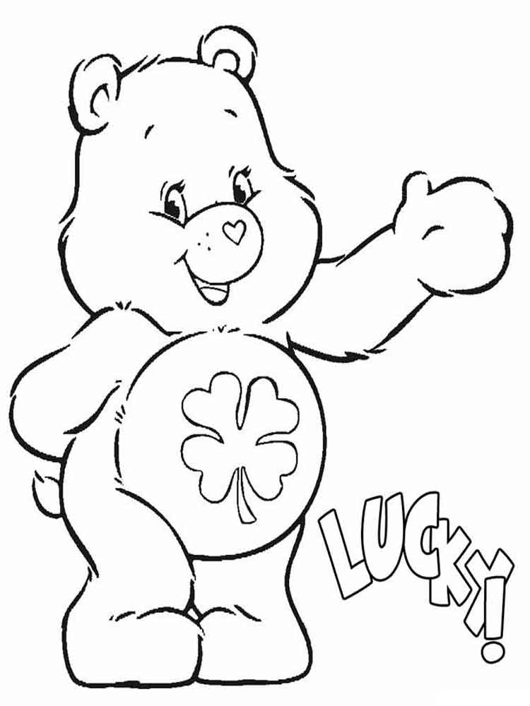 care bears coloring pages 1 - Care Bears Coloring Pages