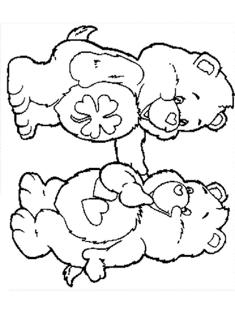 care bear coloring pages christmas - photo#47