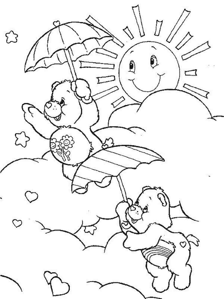 Sunshine coloring pages printable