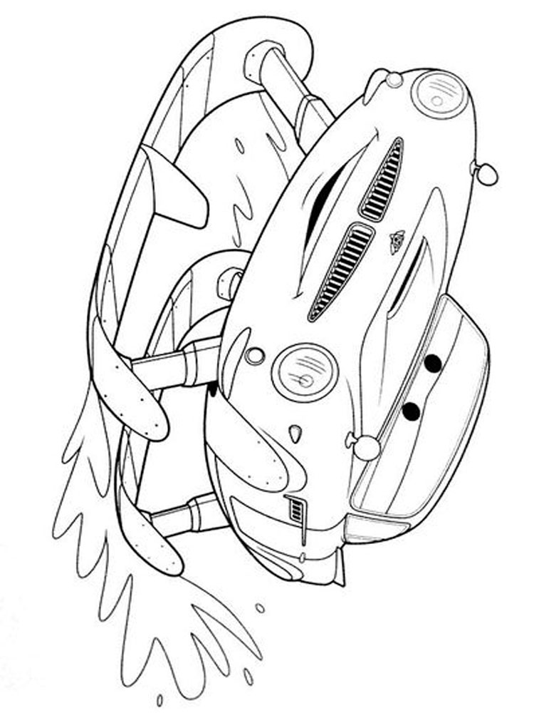 Cars and Cars 2 coloring pages