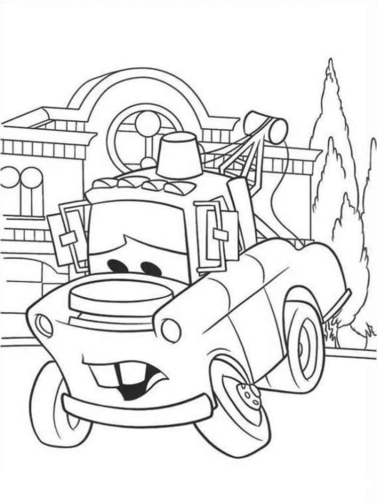 Cars and Cars 2 coloring pages. Download and print Cars ...