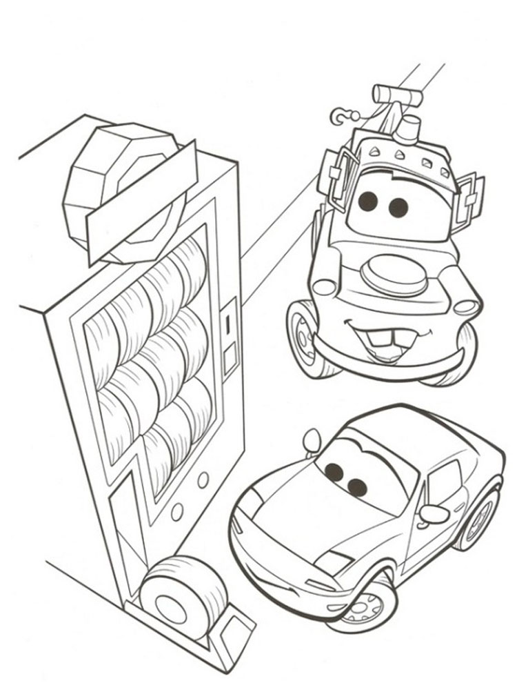 Cars and cars 2 coloring pages download and print cars for Cars cartoon coloring pages