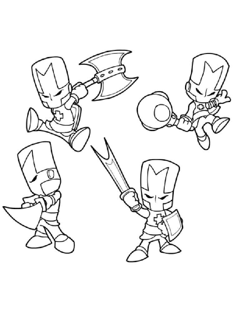 Castle Crashers Coloring Pages Free Printable Castle