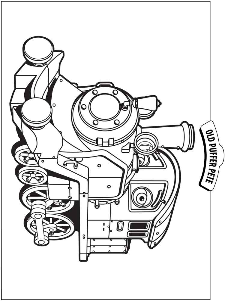 This is a picture of Terrible chuggington coloring pages