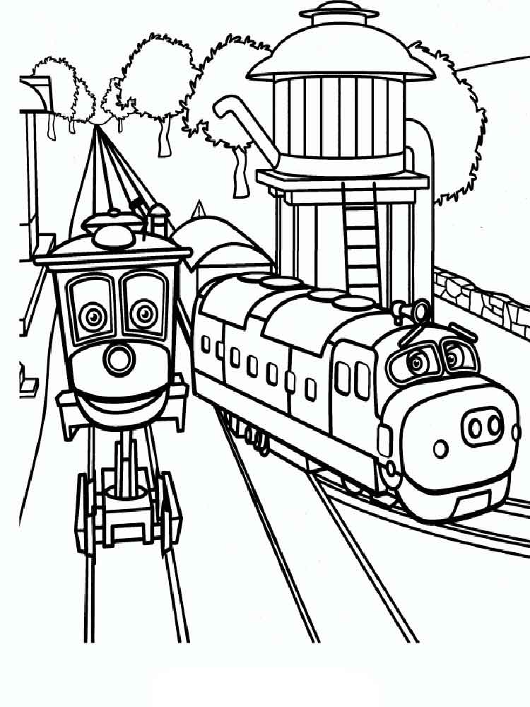 Chuggington Coloring Pages Free Printable Chuggington Coloring Pages