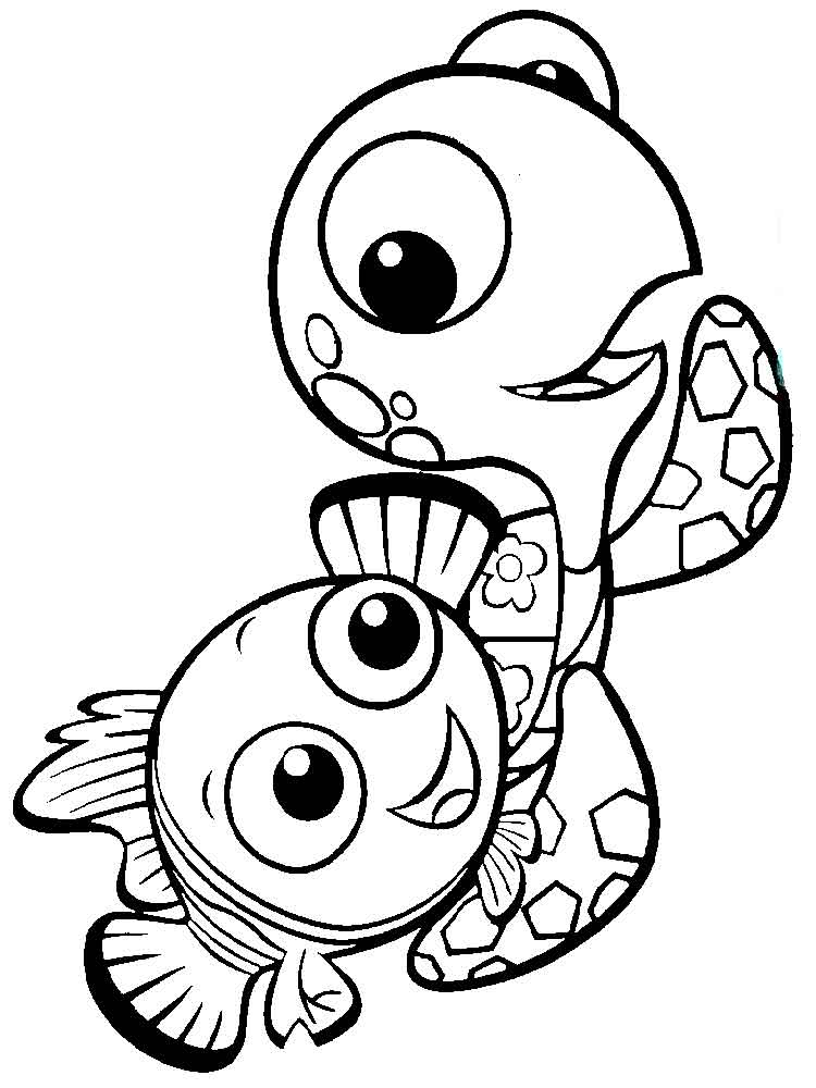 Crush And Squirt Coloring Pages  Free Printable Crush And Squirt Coloring Pages