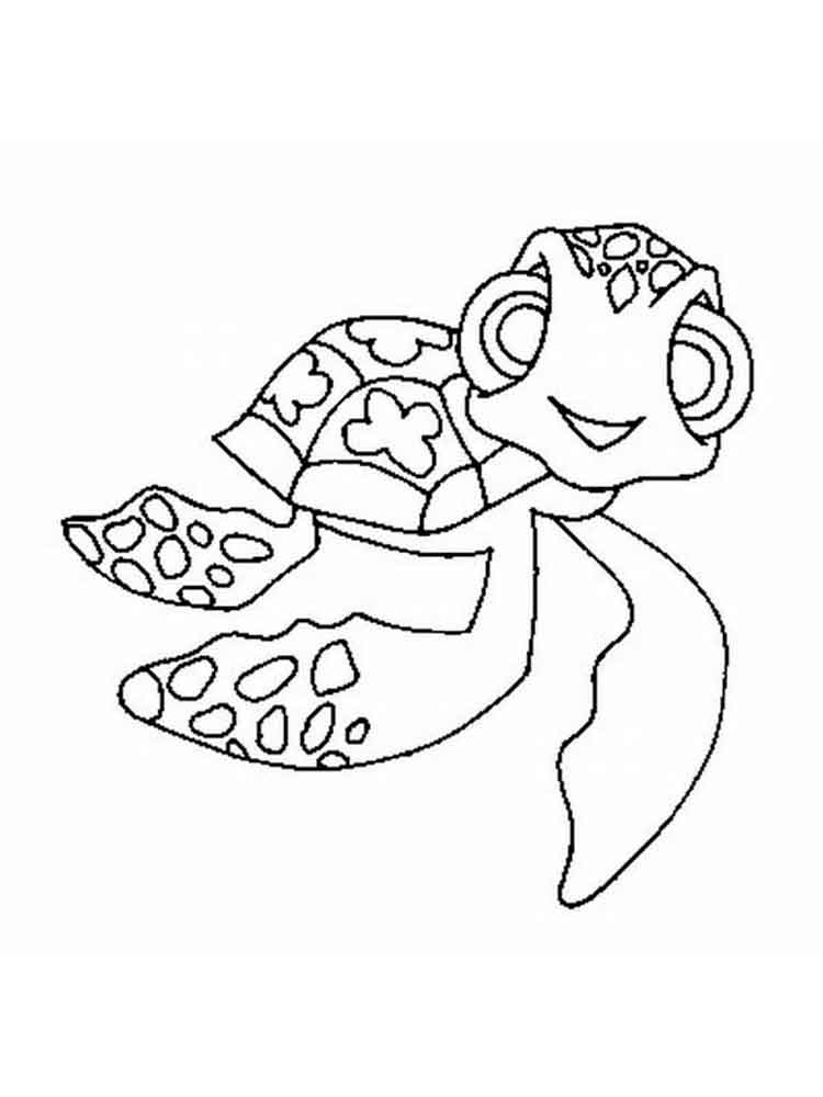 finding nemo crush and squirt coloring pages 3