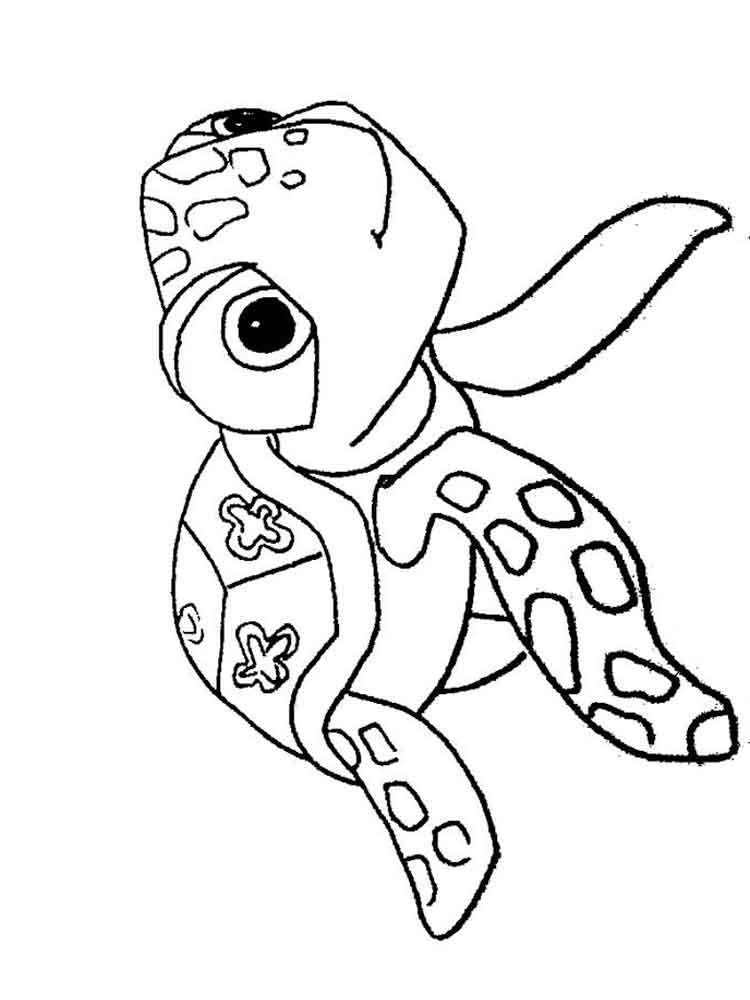 Crush and Squirt coloring pages Free Printable Crush and