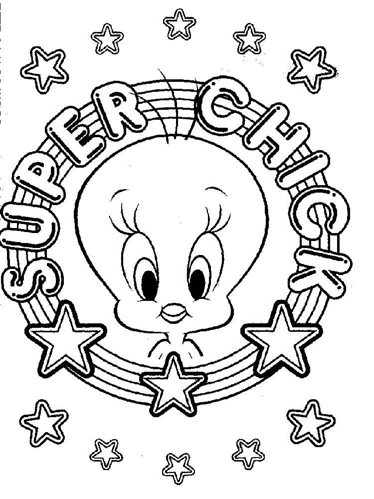 cute tweety bird coloring pages 11