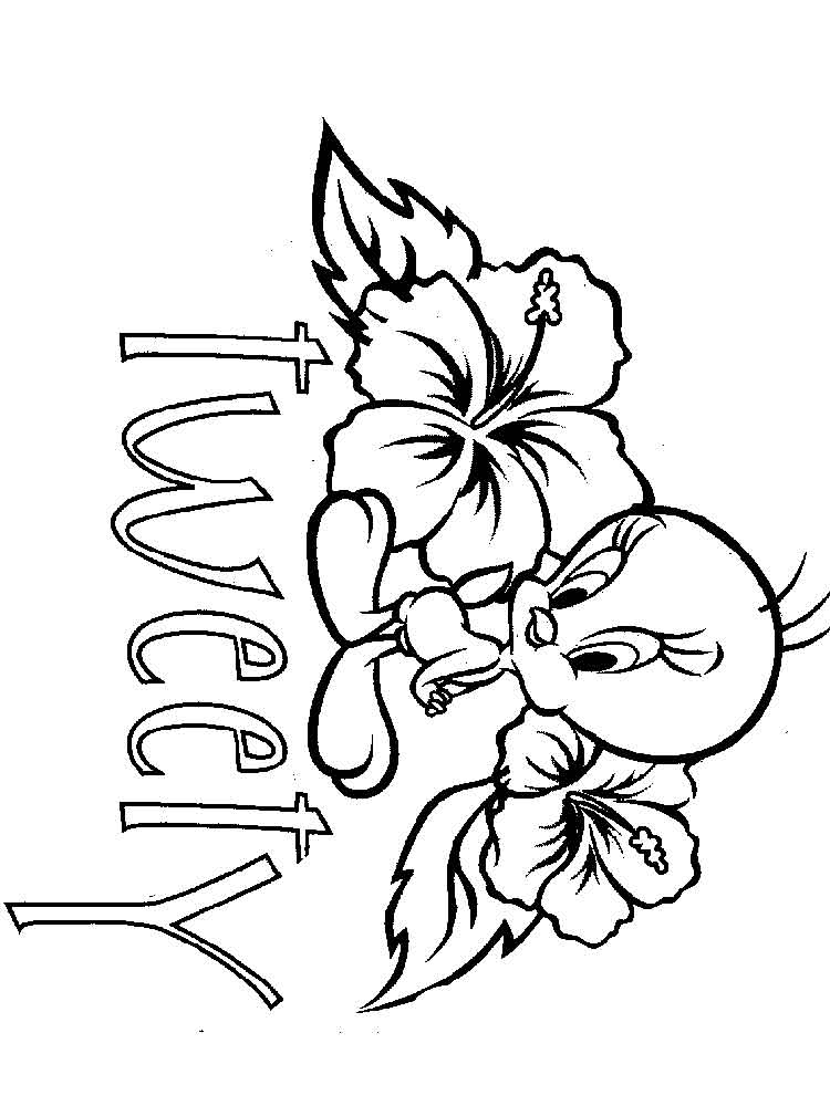 tweety bird printable coloring pages | Cute Tweety Bird coloring pages. Free Printable Cute ...