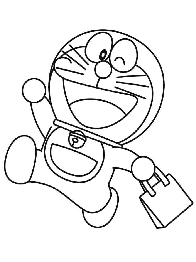 Doraemon coloring pages free printable doraemon coloring for Disegni da colorare doraemon