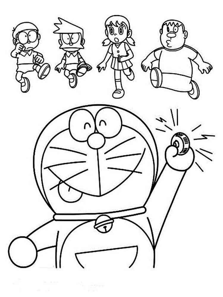 Doraemon coloring pages. Free Printable Doraemon coloring ...