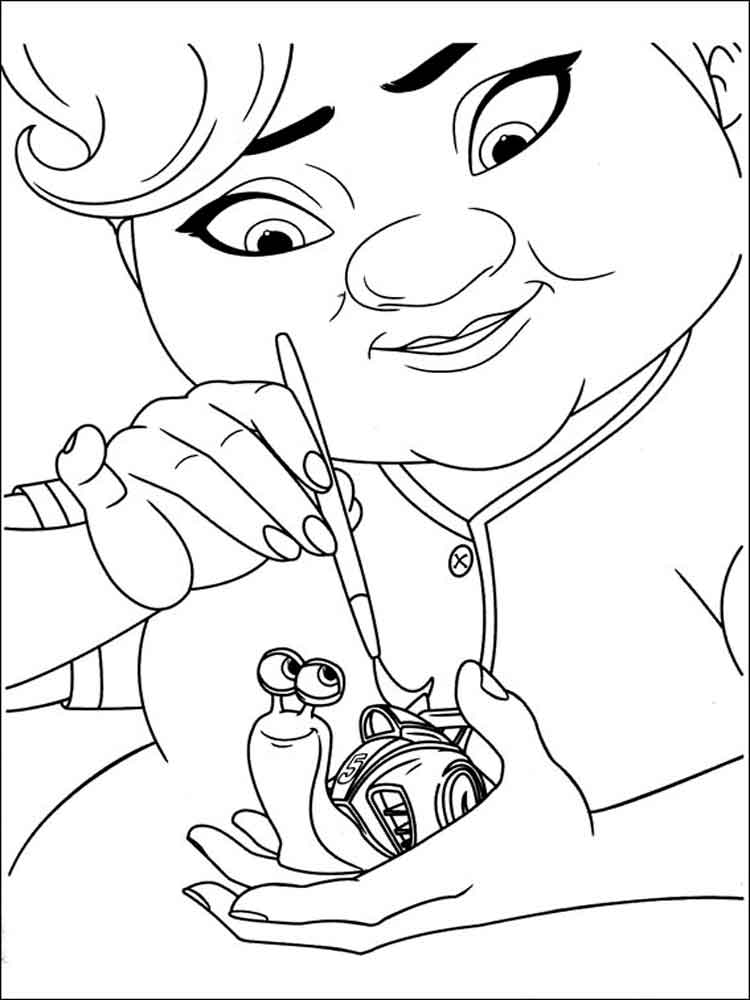 Dreamworks Turbo coloring pages Free Printable Dreamworks Turbo