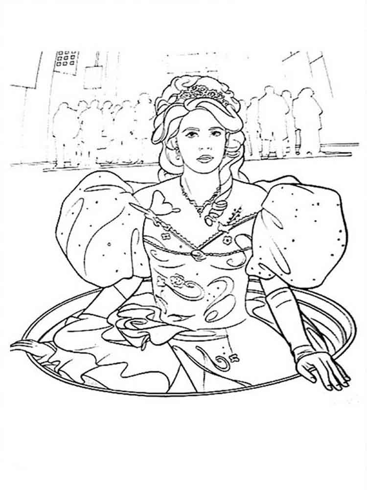 Enchanted coloring pages Free